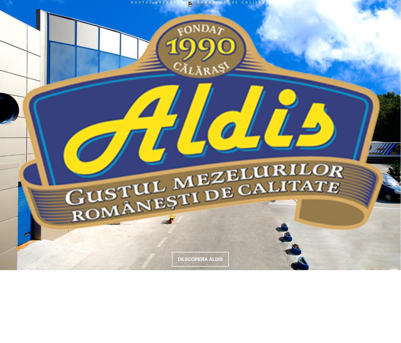 Site de prezentare al producatorului de mezeluri Aldis.