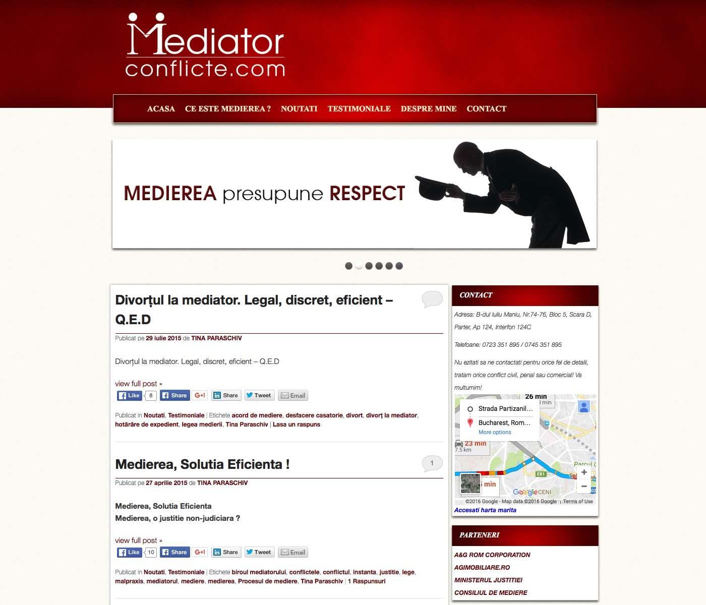 Servicii profesionale pentru medierea conflictelor.