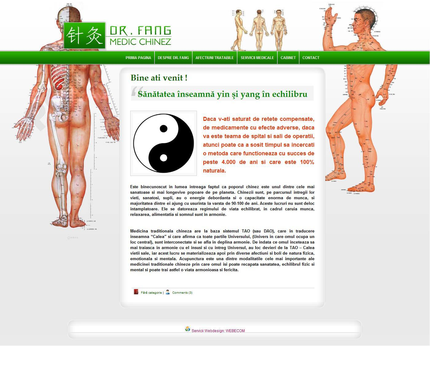 Tramante medicale folosind acupunctura - dr. Fang Shunseng.